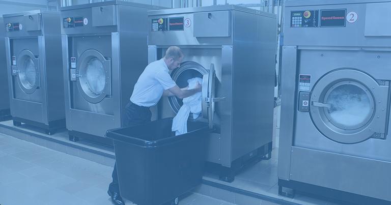 Loading a washing machine